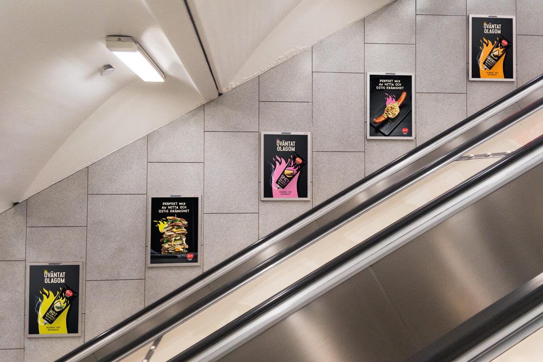 Kavli – Hot lansering T-bana rulltrappa