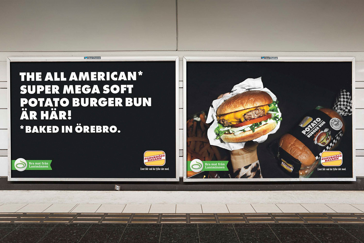 Potato burger bun – billboard
