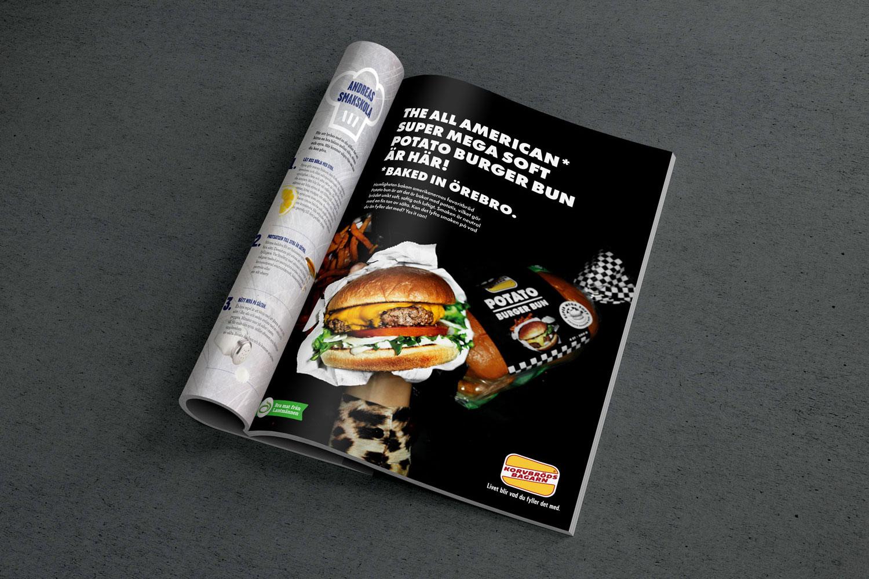 Potato burger bun – annons